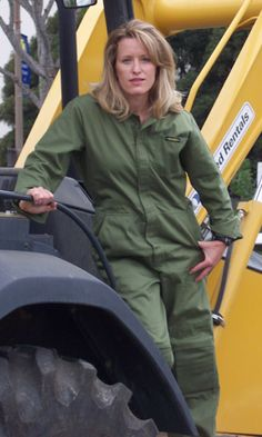 Olive Green Coverall - Rosies Workwear Shop