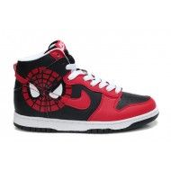Spiderman Nike Dunk High Tops Shoes Red Black