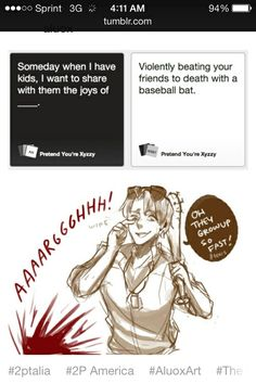 Hetalia mets cards against humanity.