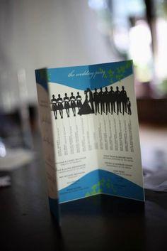 Silhouette Bridal Party Wedding Programs - DIY PDF design to print on 8.5 x 11 paper. $200.00, via Etsy.