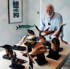 Fins & Feathers (From Sea to Sky - Rex Homan Exhibition) (April 28 - May Arte Inuit, Inuit Art, Wood Carving Art, Wood Art, Wood Carvings, Native Art, Native American Art, Art Nouveau, Maori Art