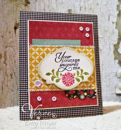 Card using Verve's Inspire Hope and Love Note stamp sets,  Verve's Classy Label and Loopy Blooms Cut Above dies. Finished with Verve's Pink Sparkle Sequin Mix.