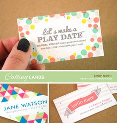 Personalized Seed Paper Calling Cards from Botanical PaperWorks