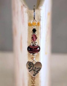 Lampwork Beaded Bookmark  Silver Heart Glass Beaded by CKDesignsUS, $8.00