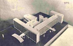 Model Le Corbusier and Nikolai Kolli 'Tsentrosoiez' completed 1933 #architecture