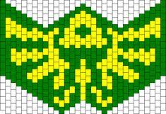 Zelda Mask Test bead pattern
