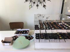 Artisanal chocolate display