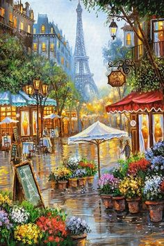 Landscape Eiffel Tower Diy Paint By Numbers Kits .Landscape Eiffel Tower Diy Paint By Numbers Number Art, Paint By Number Kits, Painting For Kids, Diy Painting, Children Painting, Springtime In Paris, Diy Canvas Art, Paris Eiffel Tower, Flower Market