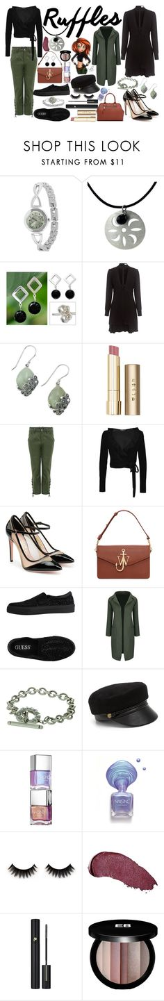 """Kim Possible"" by quinn-avina ❤ liked on Polyvore featuring NOVICA, Disney, A.L.C., Lord & Taylor, Stila, Marissa Webb, Boohoo, Salvatore Ferragamo, J.W. Anderson and GUESS"