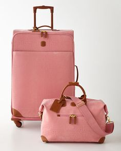 Designer Luggage & Luggage Sets at Neiman Marcus - travel luggage Pink Luggage, Cute Luggage, Luggage Sets, Travel Luggage, Travel Bags, Luggage Suitcase, Mk Handbags, Handbags Michael Kors, Michael Kors Bag