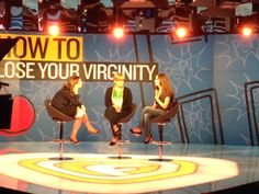 Brita and Ellen, two stars of HOW TO LOSE YOUR VIRGINITY taping with Alicia Menendez