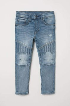 f0615b3ee08e7 H&M Skinny Fit Biker Jeans - Blue Biker Jeans, Denim Jeans, Stretch Denim,