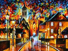 NIGHT IN THE OLD CITY by Leonid Afremov