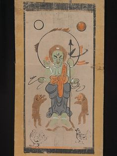 Ōtsu-e of Shōmen Kongōyasha (Vajrayaksha), 17th century. Japan. The Metropolitan Museum of Art, New York. The Harry G. C. Packard Collection of Asian Art, Gift of Harry G. C. Packard, and Purchase, Fletcher, Rogers, Harris Brisbane Dick, and Louis V. Bell Funds, Joseph Pulitzer Bequest, and The Annenberg Fund Inc. Gift, 1975 (1975.268.142) #Halloween