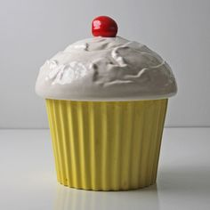 Yellow Cupcake Canister, $72, now featured on Fab.