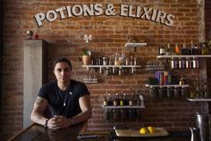 Paris Xerx co-owns the new Lockhart bar at Dundas and Dufferin. Its Harry Potter theme, with a mural of a stag patronus, is proving popular.