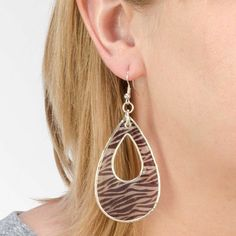 Animal Print Shell Pierced Earring #purpleboxjwlry