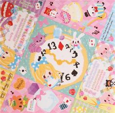 cute Alice in Wonderland fairy tale Origami glitter block Note Pad by Q-Lia 5