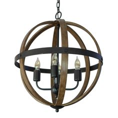 Decor Therapy Mason Black Metal and Wood Pendant Light Modern/Contemporary Orb Pendant Light at Lowe's. The Maddox chandelier draws the eye and instantly transforms a room while keeping your dining room or breakfast nook light and airy. The orb cage style Orb Pendant Light, Geometric Pendant Light, Industrial Chandelier, Globe Chandelier, Modern Pendant Light, Chandelier Lighting, Orb Light, Lantern Lighting, Bronze Chandelier