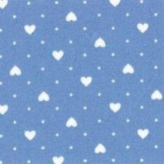 Hearts and Polka dots print cotton fabric