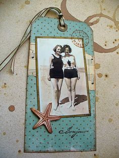 https://flic.kr/p/6pSKtq | Vintage Swimwear Tag | Made for  A Swap for all Season's Vintage Swimwear Tag BooK