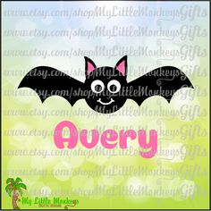 Cute Bat Halloween Design Digital Clipart Instant Download SVG DXF EPS Jpeg Png - pinned by pin4etsy.com