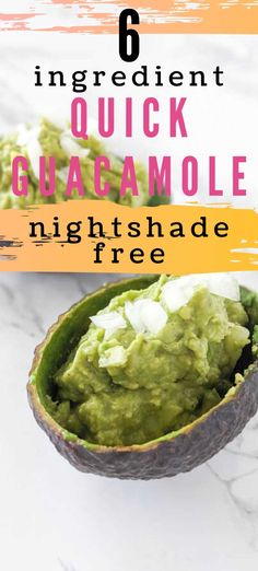 This quick nightshade free guacamole gives your tacos the right dose of fat and spice. It's the perfect cheese substitute in tacos and enchiladas. Quick Guacamole Recipe, Nightshade Free Recipes, Eating Tacos, Sweet Potato Toast, Dairy Free Diet, Breakfast Toast, Ripe Avocado, No Calorie Foods, Good Fats