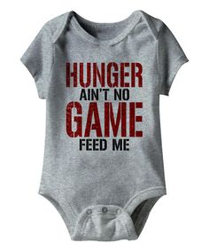 Look what I found on #zulily! Gray Heather 'Feed Me' Bodysuit #zulilyfinds