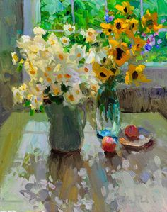 Greg Packard oil painting still life floral