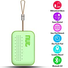 SREEGA Mini Smart Tag GPS Tracker Bluetooth Anti-lost Alarm Key Finder Locator - Green -- This is an Amazon Affiliate link. Check out the image by visiting the link.
