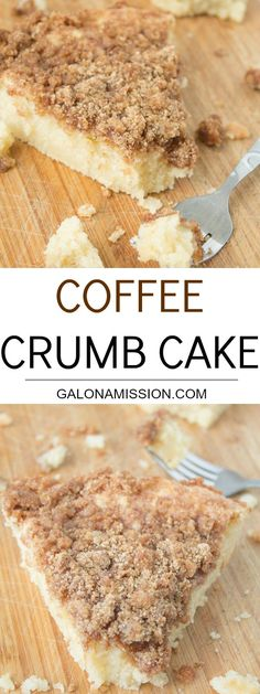 A soft, moist, and easy-to-make coffee crumb cake recipe that is heavy on the crumbs. Everyone will love it!