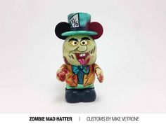 Zombie Mad Hatter Custom Vinylmation by Mike Vetrone.