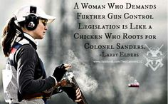 """Yes, thank God someone has put this in words!!! WTF is the women's """"rights"""" movement thinking??? Guns are the ULTIMATE equalizer. No birth control, or fair pay bullshit, or scholarship can ever EVER take the place of personal AUTONOMY. Feminists are dumba@% to think any legislation can make them safer. Only they can make themselves safer!"""