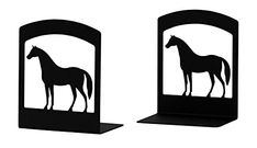 Iron Horse Book Ends Set of 2Black Metal ** See this great product.