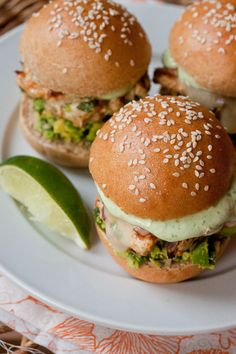Cheddar Jalapeno Chicken Burgers with Guacamole by Smells Like Home --Top Ten faves, good stuff