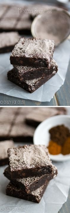 Mexican Brownies: super rich and fudgy with a little spicy kick! @Crazy for Crust
