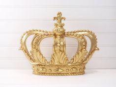 Gold Princess Crown Wall By Shabiliciousdecor
