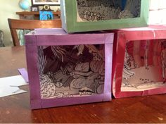 Teens That Craft: Tatebanko -  These are Tatebankos they are a Japanese art that uses paper to make a 3D scene.