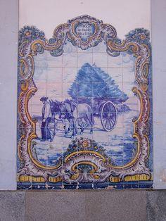 Painel de Azulejos: Condução de Pasto para a Eira - Elvas | Flickr – Compartilhamento de fotos!