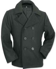 a5d7f885930 Mens Pea Coat - Quilted Lining