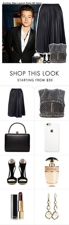 """Another Man Launch Party W/ Harry"" by aileen2704 ❤ liked on Polyvore featuring Theory, Alberta Ferretti, Alexander McQueen, Prada, Chanel, Ippolita, OneDirection, harrystyles, 1d and onedirectionoutfits"