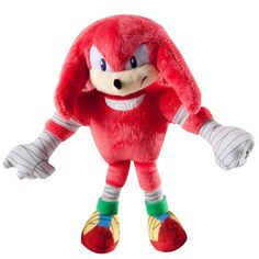 Sonic Boom Small Plush - Knuckles: This small Knuckles plush is ready for action! This soft cuddly plush stands Inch tall and can be machine washed for easy care. Sonic Boom Knuckles, Sonic Plush Toys, Sonic Birthday Parties, Sonic And Amy, Pet Toys, Decoration, A Team, Sonic The Hedgehog, Dinosaur Stuffed Animal