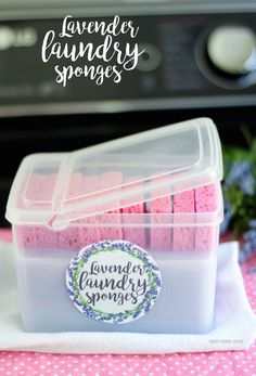 DIY Lavender Laundry Sponges