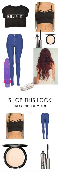 """If you know where this is inspired from i will love you forever"" by kitty1201030 ❤ liked on Polyvore featuring Brandy Melville, Topshop, Dr.Hauschka, Benefit, Converse, women's clothing, women, female, woman and misses"