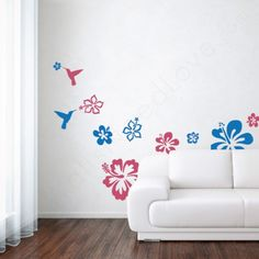 Hibiscus Wall Decals