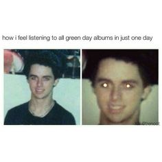 American Idiot, Emo Bands, Music Bands, Rock Bands, Music Humor, Music Memes, Green Day Meme, Green Day Albums, Green Day Billie Joe