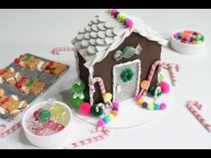 How to Make a Doll Gingerbread House - YouTube - for xmas display in dollhouse Or maybe as a dollhouse for the dollhouse