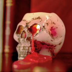 Bleeding Skull Candle at Firebox.com
