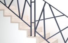 Metal Stair Railing, Gates And Railings, Staircase Handrail, Staircases, Steel Furniture, Architecture Plan, Booth Design, Interior Design, Wood