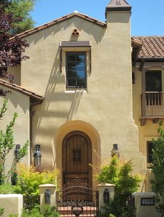 Spanish Style Houses - mediterranean - entry - san francisco . Like the color